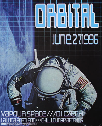 Frank Kozik Orbital Poster
