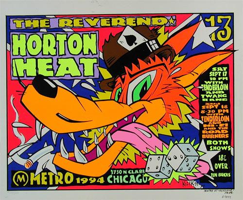 Frank Kozik Reverend Horton Heat Poster