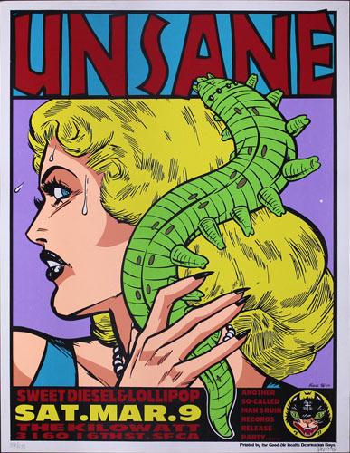 Frank Kozik Unsane Poster