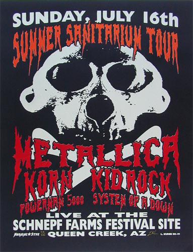 Lindsey Kuhn Metallica Poster