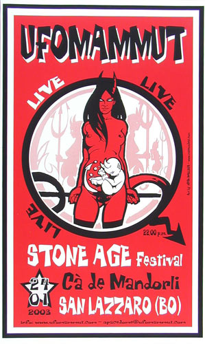 Malleus UFOMammut Stone Age Festival Poster