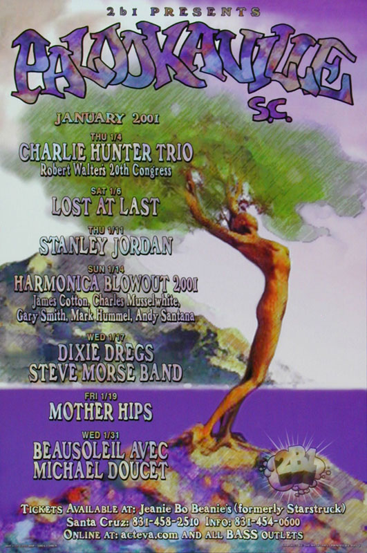 Greg Coiner Mother Hips at Palookaville - Charlie Hunter James Cotton Charlie Musselwhite MHP #109 Poster