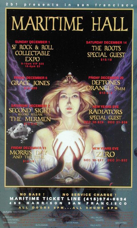 Kevin Haapala Grace Jones at Maritime Hall - The Mermen The Roots Deftones MHP #25 Poster