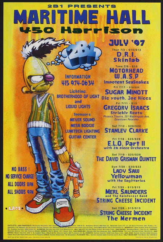 Lamb Motorhead at Maritime Hall - D.R.I. ELO Part II David Grisman Merl Saunders MHP #32 Poster
