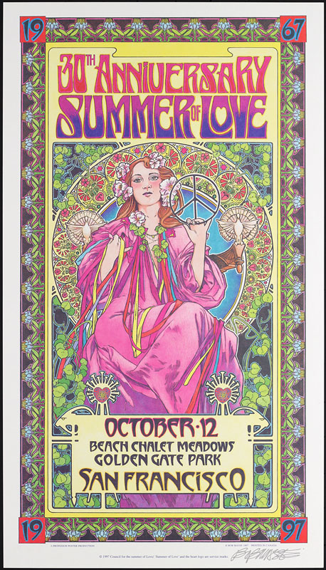 Bob Masse Summer Of Love 30th Anniversary Poster