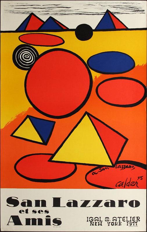 Alexander Calder San Lazzaro et ses Amis Art Exhibition Poster