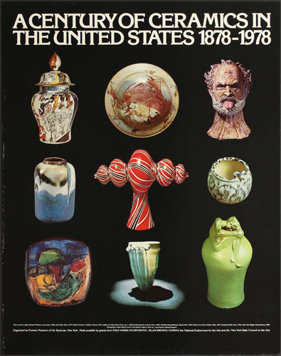 A Century of Ceramics in the United States 1878-1978 Art Exhibition Poster