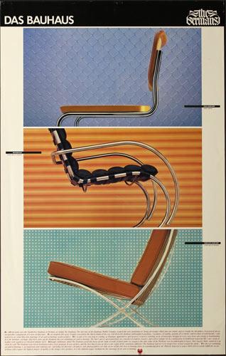 Das Bauhaus - The Germans - Three Chairs Poster