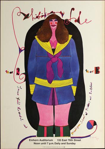 Richard Lindner Art Exhibition and Sale Poster