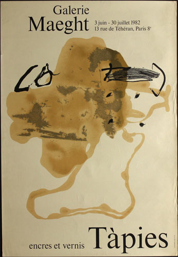 Antoni Tapies Encres et Vernis (Inks and Varnishes) Art Exhibition Poster