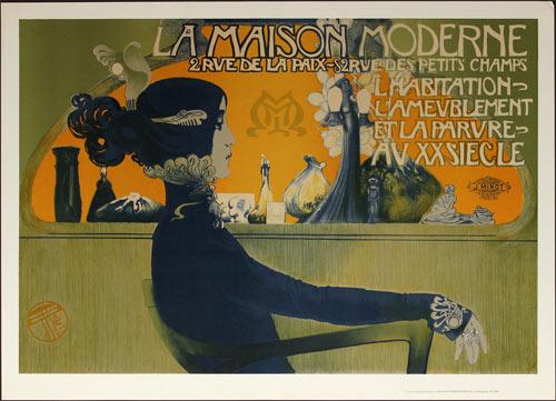 J. Minot La Maison Moderne 1901 Vintage Paris French Advertisement Poster