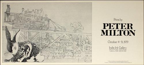 Peter Milton Prints by Art Exhibition Poster