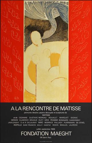 Henri Matisse A La Rencontre De Matisse 1969 Art Exhibition Poster