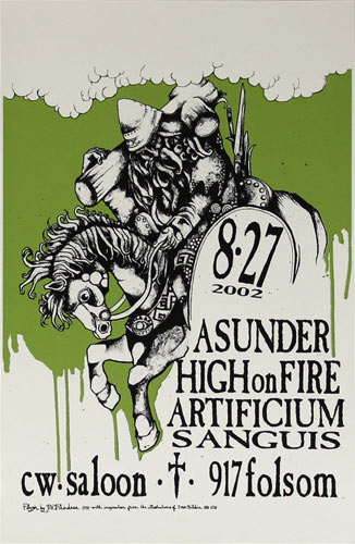 David V. D'Andrea Asunder and High on Fire Poster