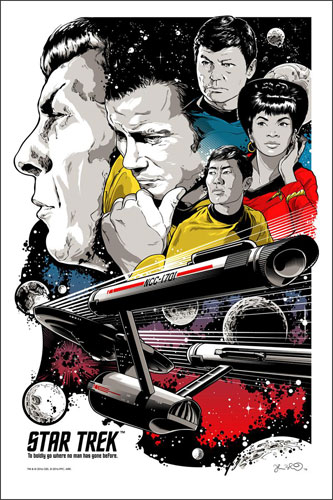 Josh Budich Star Trek - To Boldly Go Poster