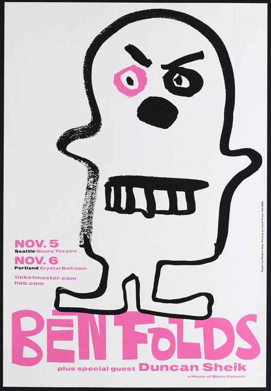 Modern Dog Ben Folds Poster