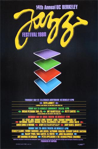 Dan Ziegler 14th Annual UC Berkeley Jazz Festival 1980 Poster
