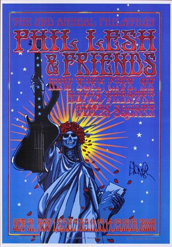 Richard Biffle Phil Lesh and Friends - The Second Annual Philathon Autographed  Poster