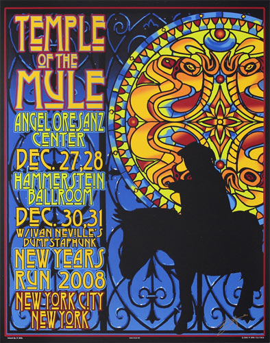 Richard Biffle Gov't Mule - Temple of the Mule Poster