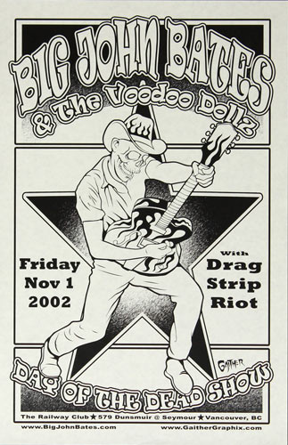 Jeff Gaither Big John Bates and the Voodoo Dollz Poster