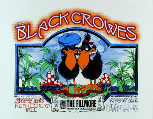 The Black Crowes Fillmore Miami Beach Poster