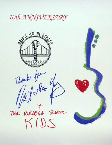 Neil Young Bridge School Benefit 10th Anniversary Poster