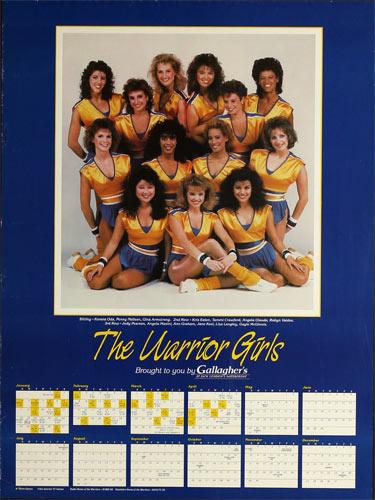 The Warrior Girls - Golden State Warriors Calendar and Basketball 1987 Schedule Poster