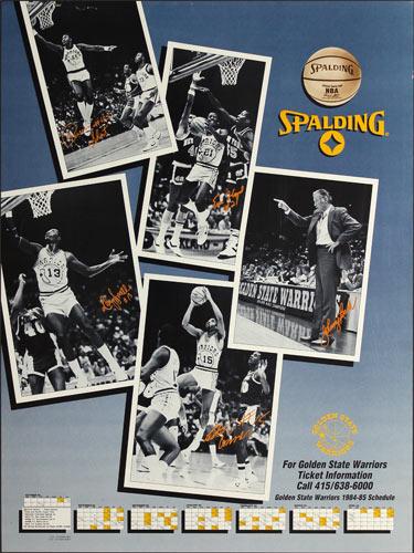 Golden State Warriors 1984-85 Basketball Schedule Poster