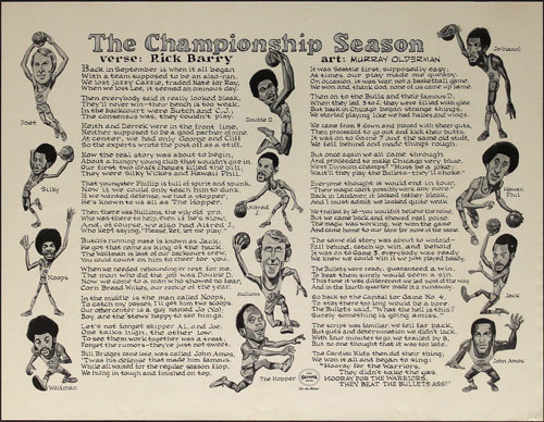 Golden State Warriors - The Championship Season Rick Barry Poem Poster