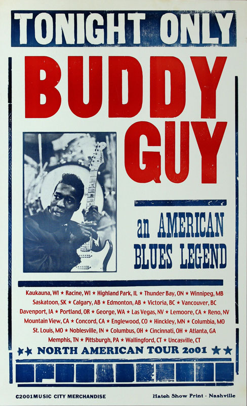 Hatch Show Print Buddy Guy North American Tour 2001 Poster