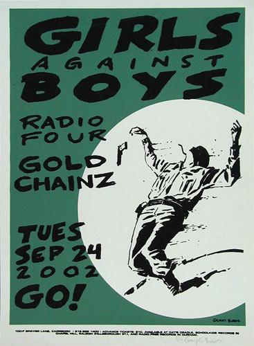 Casey Burns Girls Against Boys Poster