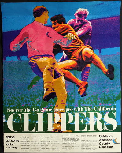 California Clippers 1967 NASL Soccer Schedule Poster