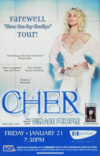 Cher Farewell Tour Poster
