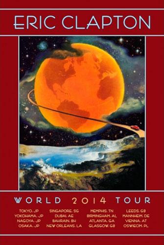 David Singer Eric Clapton 2014 World Tour Poster