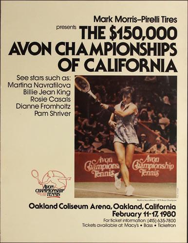 Martina Navratilova 1980 Avon Tennis Championships of California at Oakland Poster