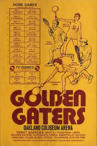 Golden Gaters 1976 Tennis Schedule Poster