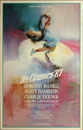 Dorothy Hamill 1987 Ice Classics at Oakland Coliseum Ice Skating Poster
