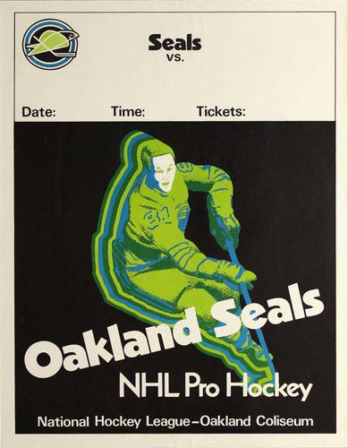 Oakland Seals (California Golden Seals) NHL Pro Hockey 1969 Season Generic Game Poster