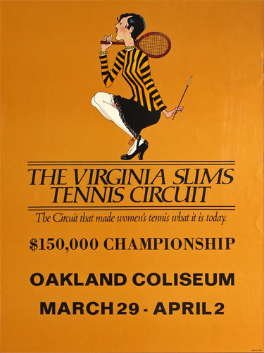 Virginia Slims Tennis Circuit $150000 Championship at Oakland Coliseum Poster