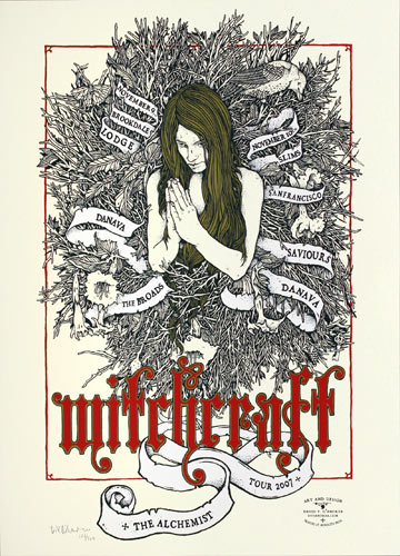 David V. D'Andrea Witchcraft 2007 Tour Poster