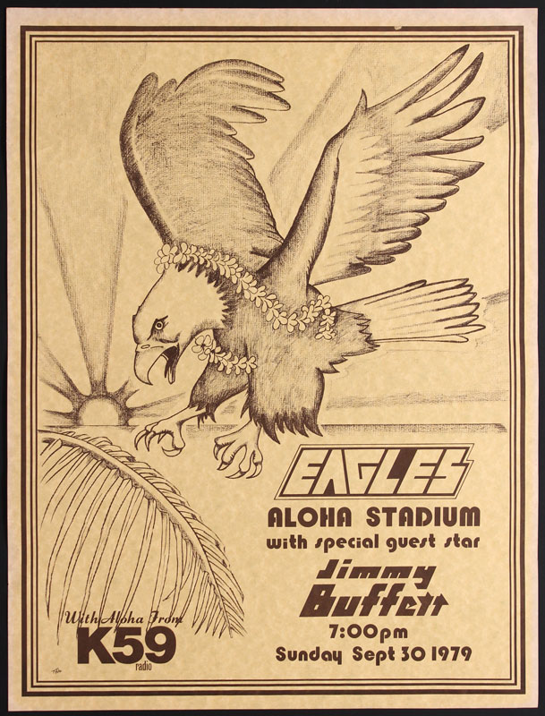 Eagles  Jimmy Buffett Hawaii Poster