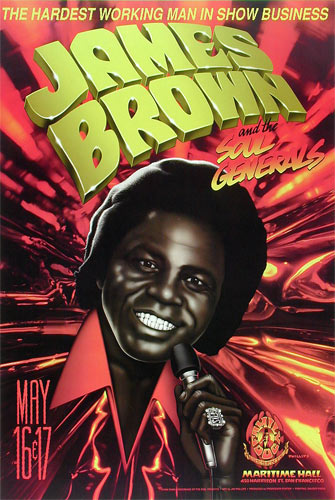 Jim Phillips James Brown Poster