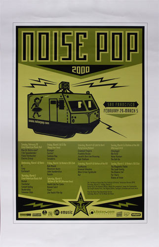 Shepard Fairey Noise Pop 2000 Poster