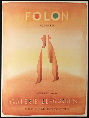 Jean-Michel Folon Jean-Michel Folon Art Exhibition Poster