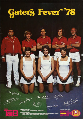 1978 Golden Gaters Tennis Coca Cola Tab  Promo Poster