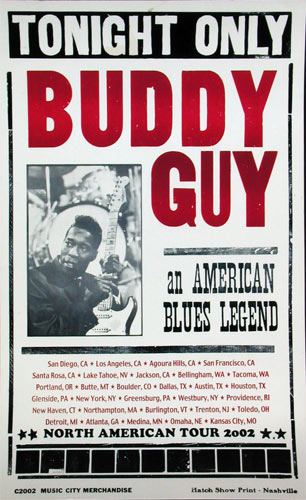 Hatch Show Print Buddy Guy Poster