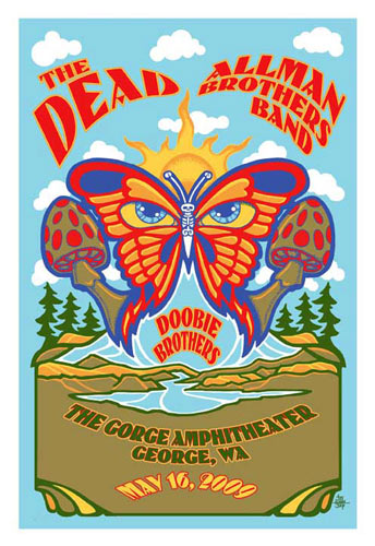 Steve Johannsen The Dead with the Allman Brothers Band Poster