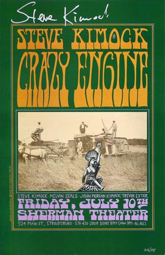 M. Dolgushkin Steve Kimock Crazy Engine Autographed Poster