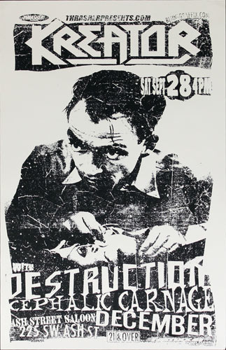 Kreator with Destruction Poster