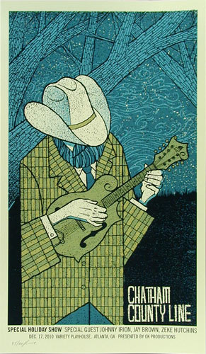Methane Studios Chatham County Line Bluegrass Poster
